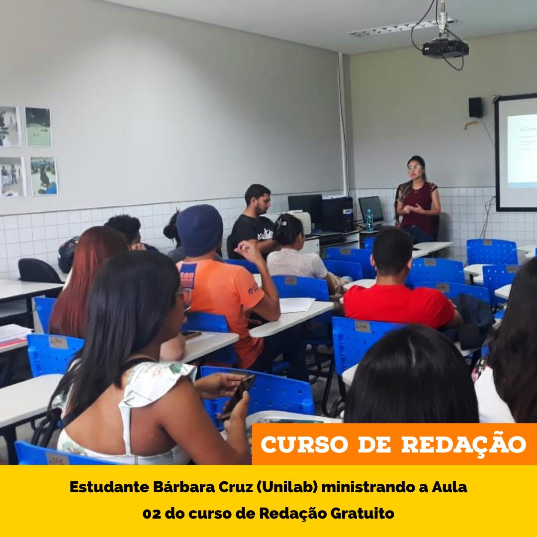 Curso de Redação Gratuito: Bárbara Cruz (Estudante Voluntária do ProEnem) ministra aula 02